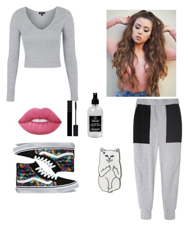 """Sweatpants, Almost No Makeup"" by kimeshajohnson on Polyvore featuring Topshop, Rachel Comey, Vans, Lime Crime, Gucci, Little Barn Apothecary and RIPNDIP"