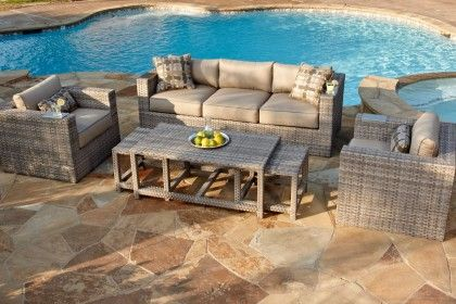 Veranda Clics Lako Wicker 6 Piece Set Furnitureoutdoor Furniturecostco Patio