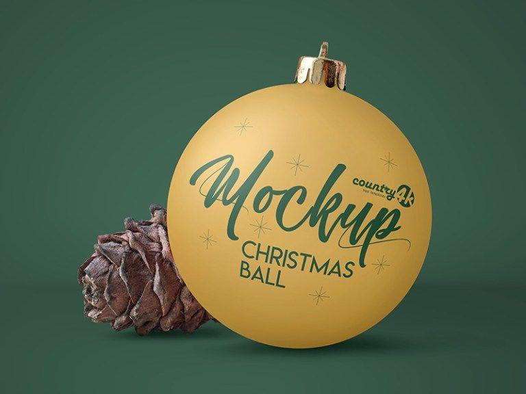 Free Christmas Ball Psd Mockup In 4k Free Download Freebiesjedi Christmas Balls Free Christmas Christmas Bulbs