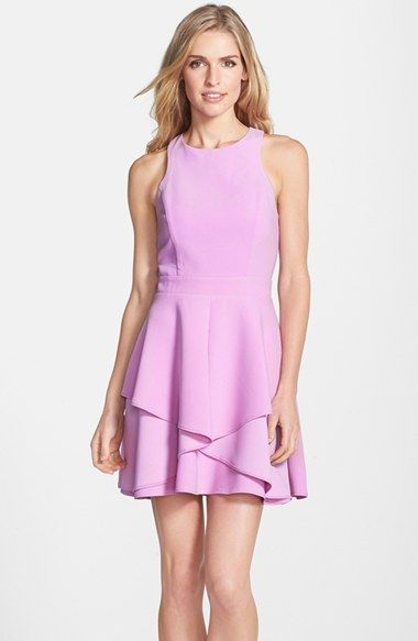 Adelyn Rae Ruffle Front Fit Amp Flare Dress Ropa