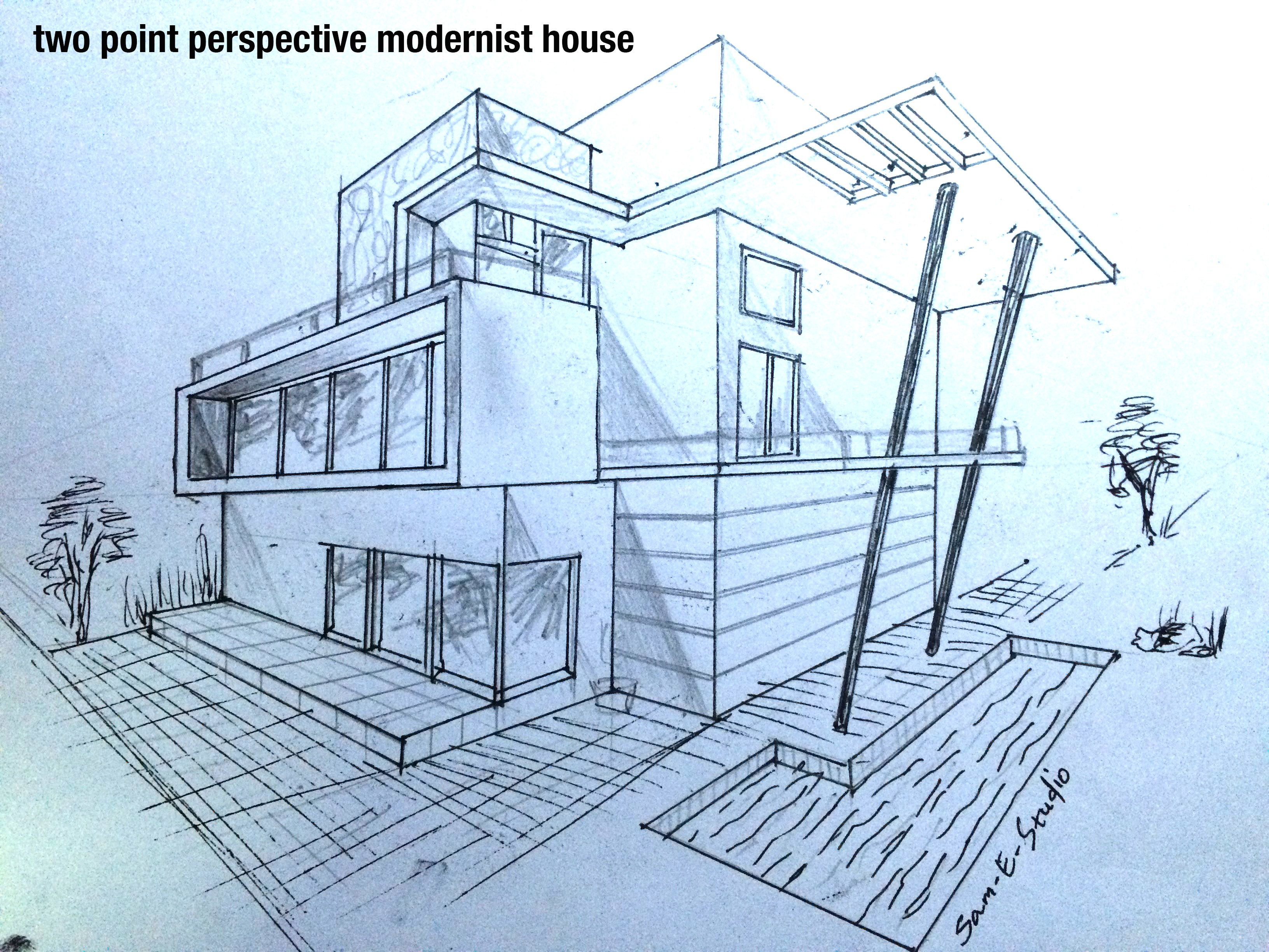 Pin By Keko On House Perspective Drawing Architecture House