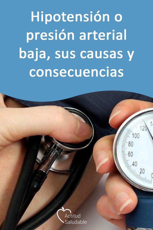 sintomas y consecuencias de la presion arterial baja