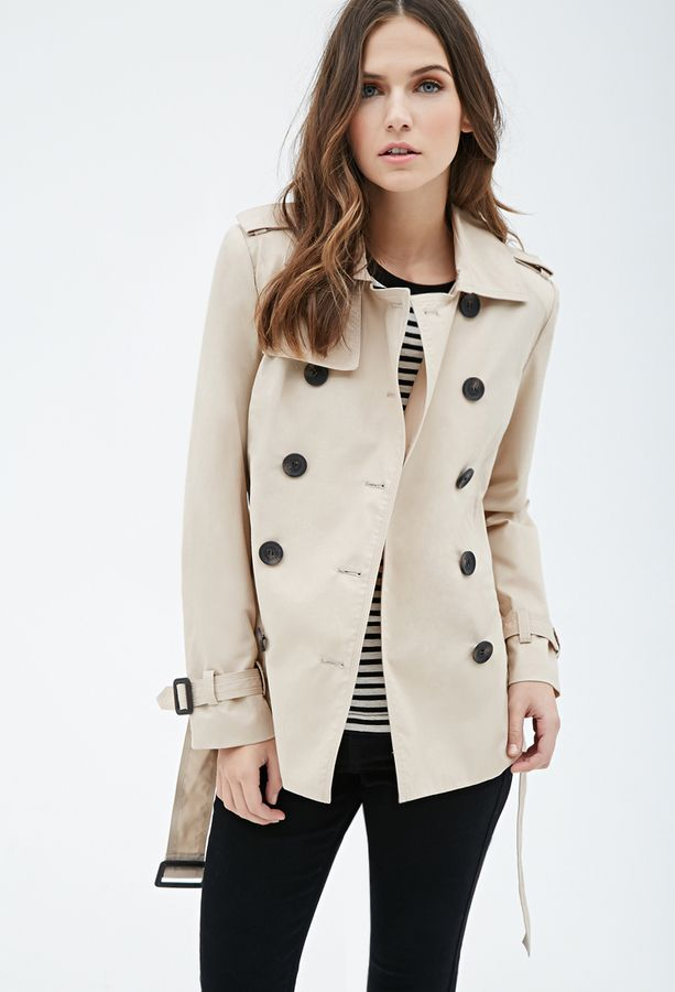 Awesome cropped trench coat . Size small. Beautiful cropped trench ...