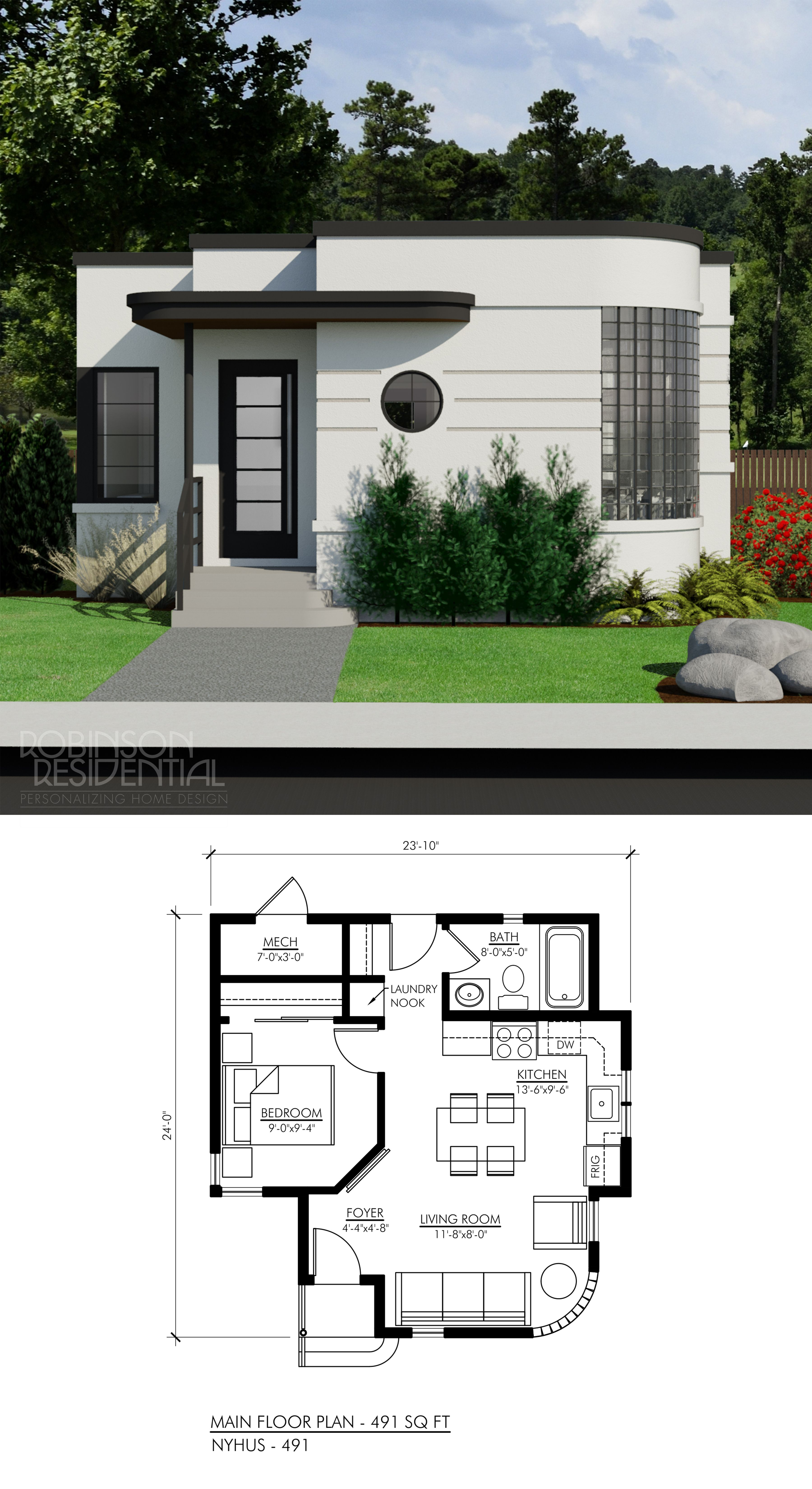 Contemporary Nyhus 491 Robinson Plans House Plans House Exterior Tiny House Floor Plans
