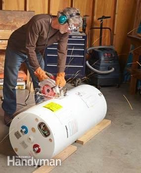 How To Get Rid Of A Water Heater Wonder If This Will Work For An Old Stone Lined That S Been Sitting In My Basement Years