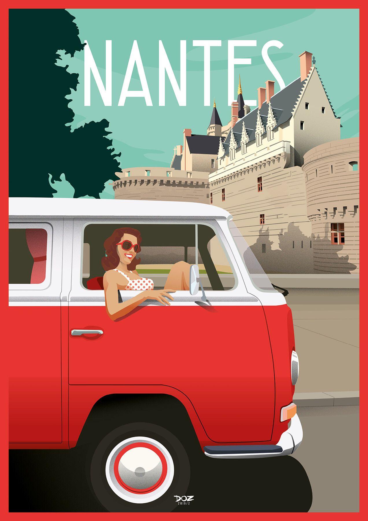 Doz Affiches Vintage Nantes Affiche Vintage Affiches De Voyage Retro Nantes