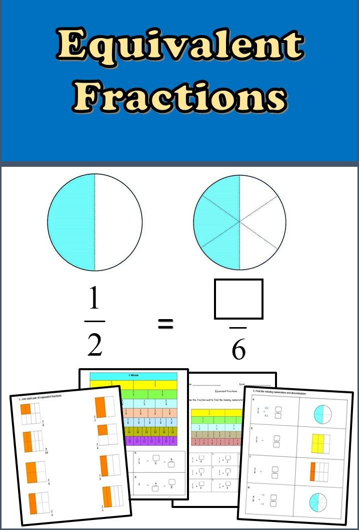 Equivalent Fractions Worksheets 3rd 4th Grade Equivalent