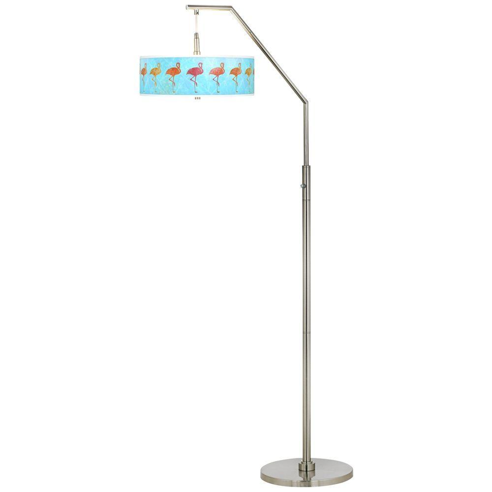 Flamingo Shade Giclee Shade Arc Floor Lamp - Style # H5361-23C43