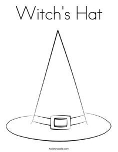 witch hat coloring pages - Google Search | witch coloring ...