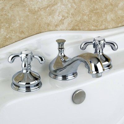 Kingston Brass French Country Widespread Bathroom Faucet With