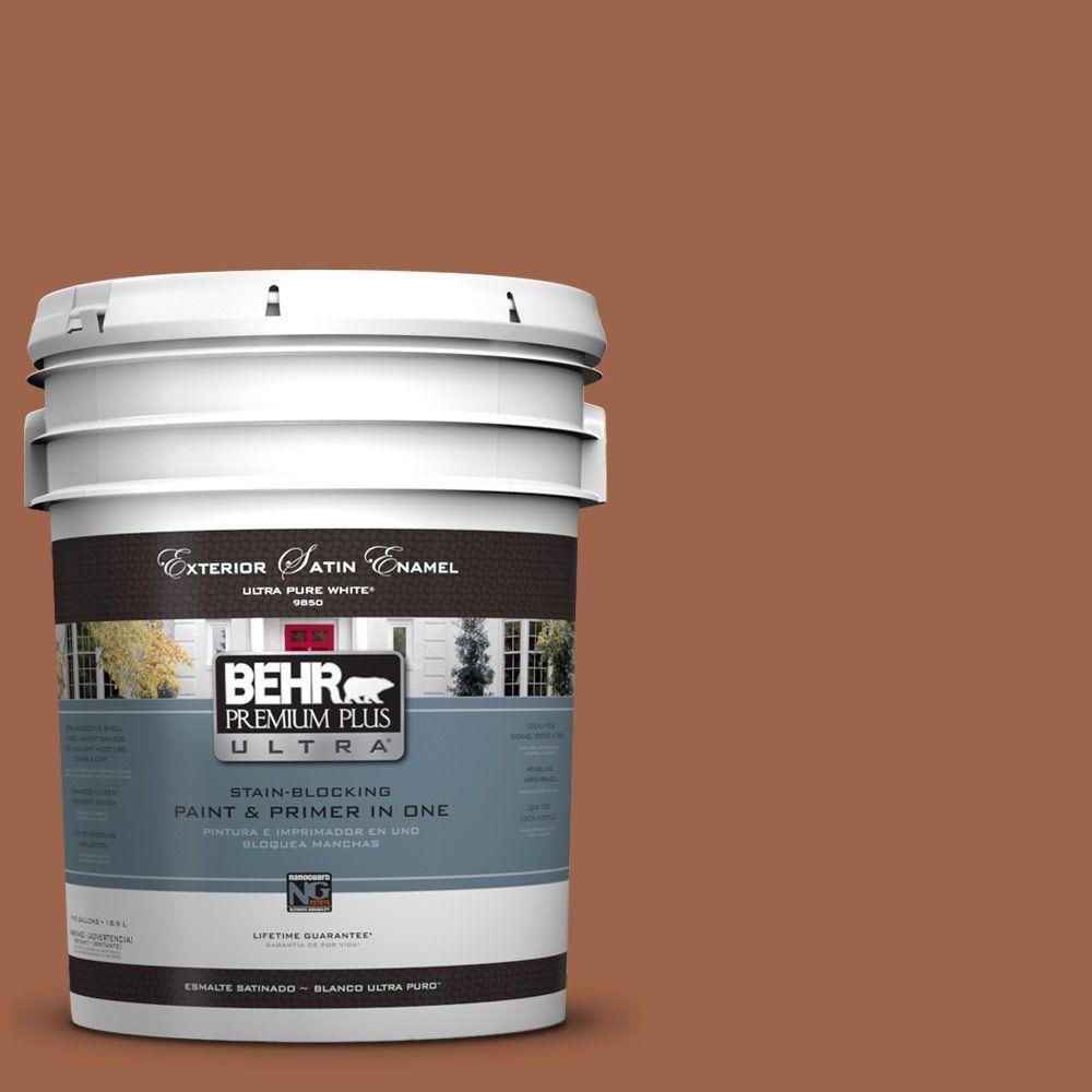 BEHR Premium Plus Ultra 5-gal. #UL120-4 Antique Copper Satin Enamel Exterior Paint