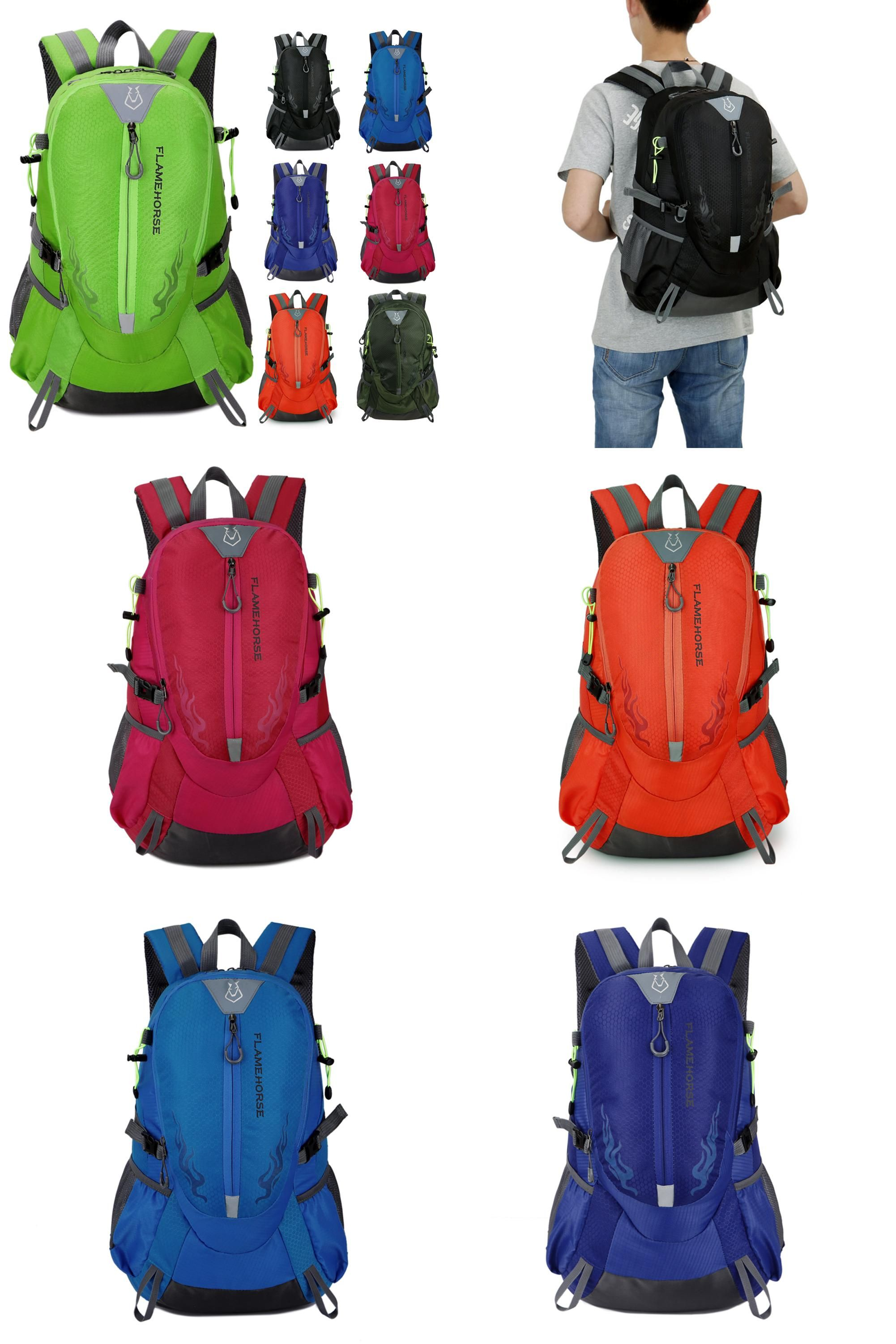 8b506bdfdd  Visit to Buy  Flame Horse Outdoor Hiking Bag Waterproof Nylon Women   Men  Big