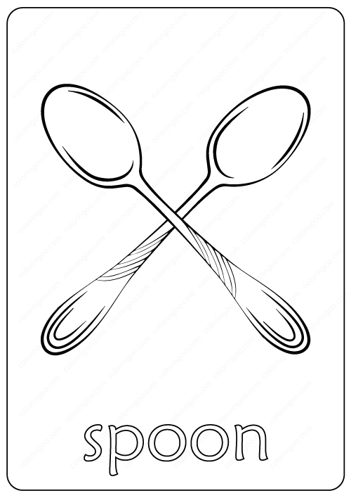 Printable Spoon Coloring Page Book Pdf Coloring Pages Free Coloring Pages Color