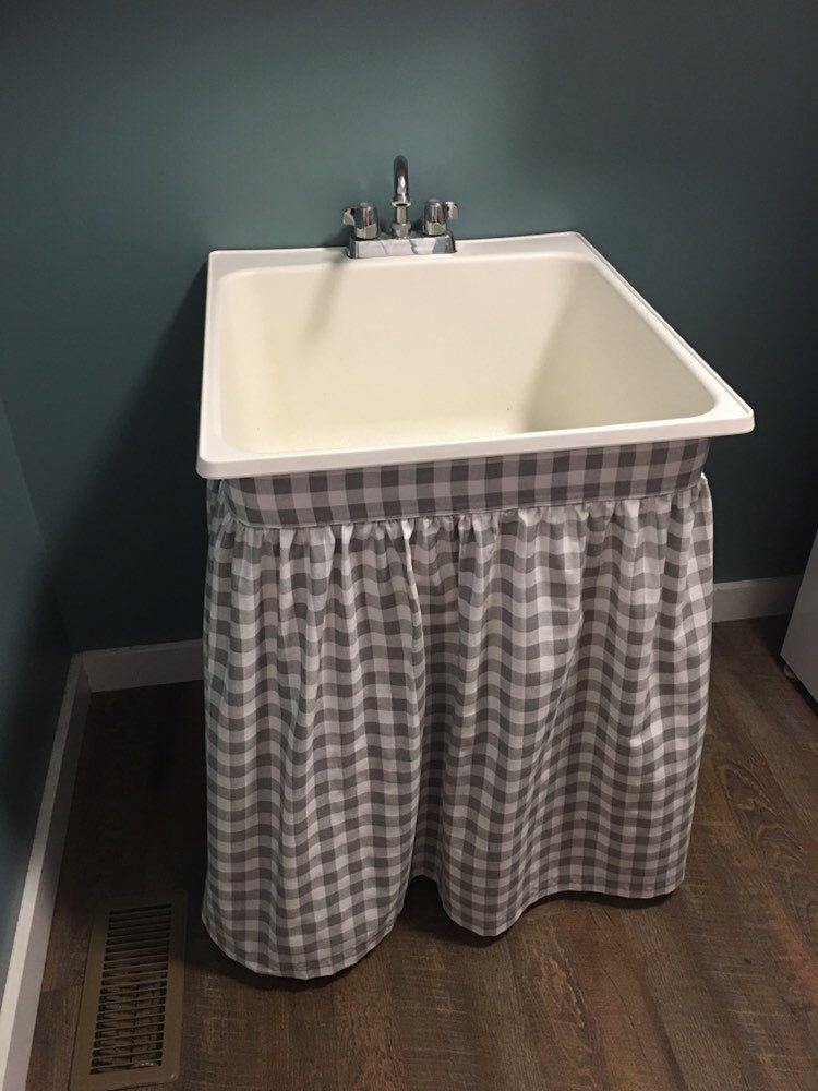 sink skirt table skirt store display
