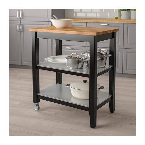 Ikea Ikea Stenstorp Wood Chrome And Black: STENSTORP Kitchen Cart - IKEA