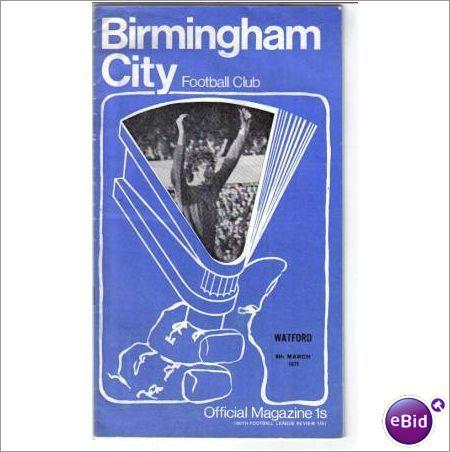 Birmingham City v Watford 06/03/1971 Division 2 Football Programme Sale