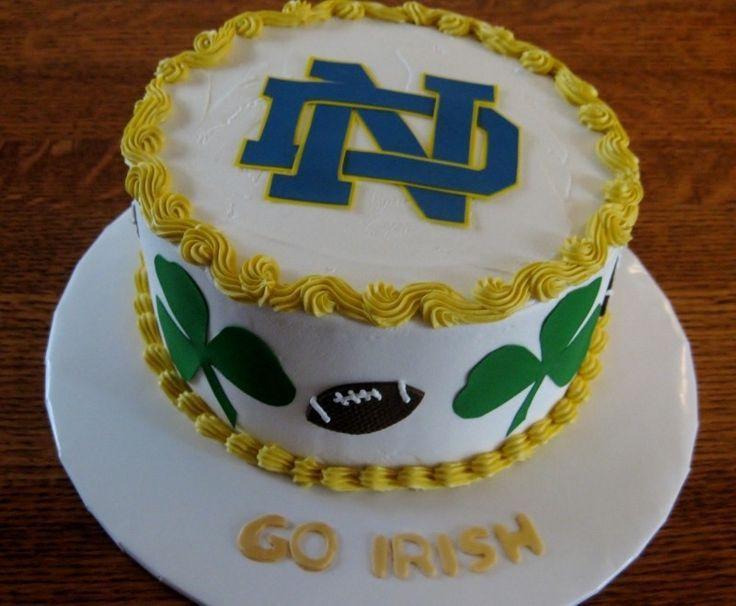Notre Dame Birthday Cakes Irish cake