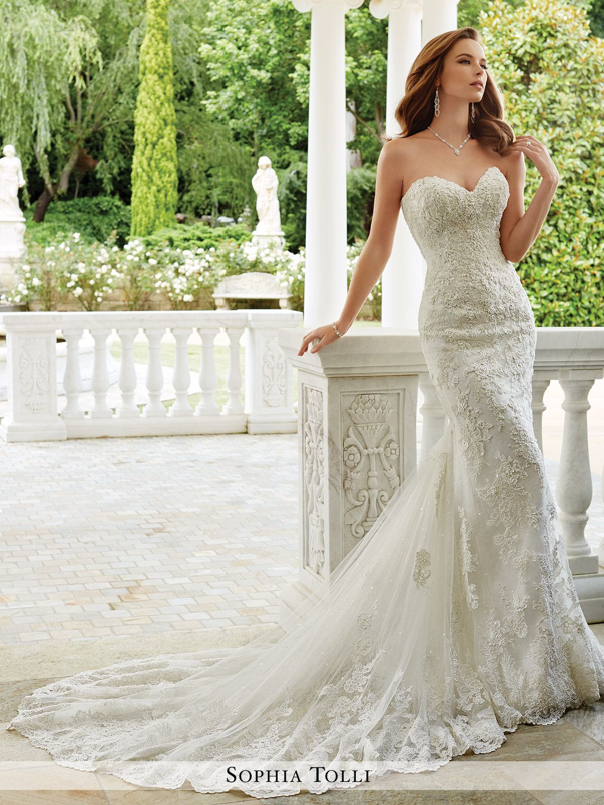 Y21674 Napoli Sophia Tolli Wedding Dress | Beaded lace, Gowns and ...