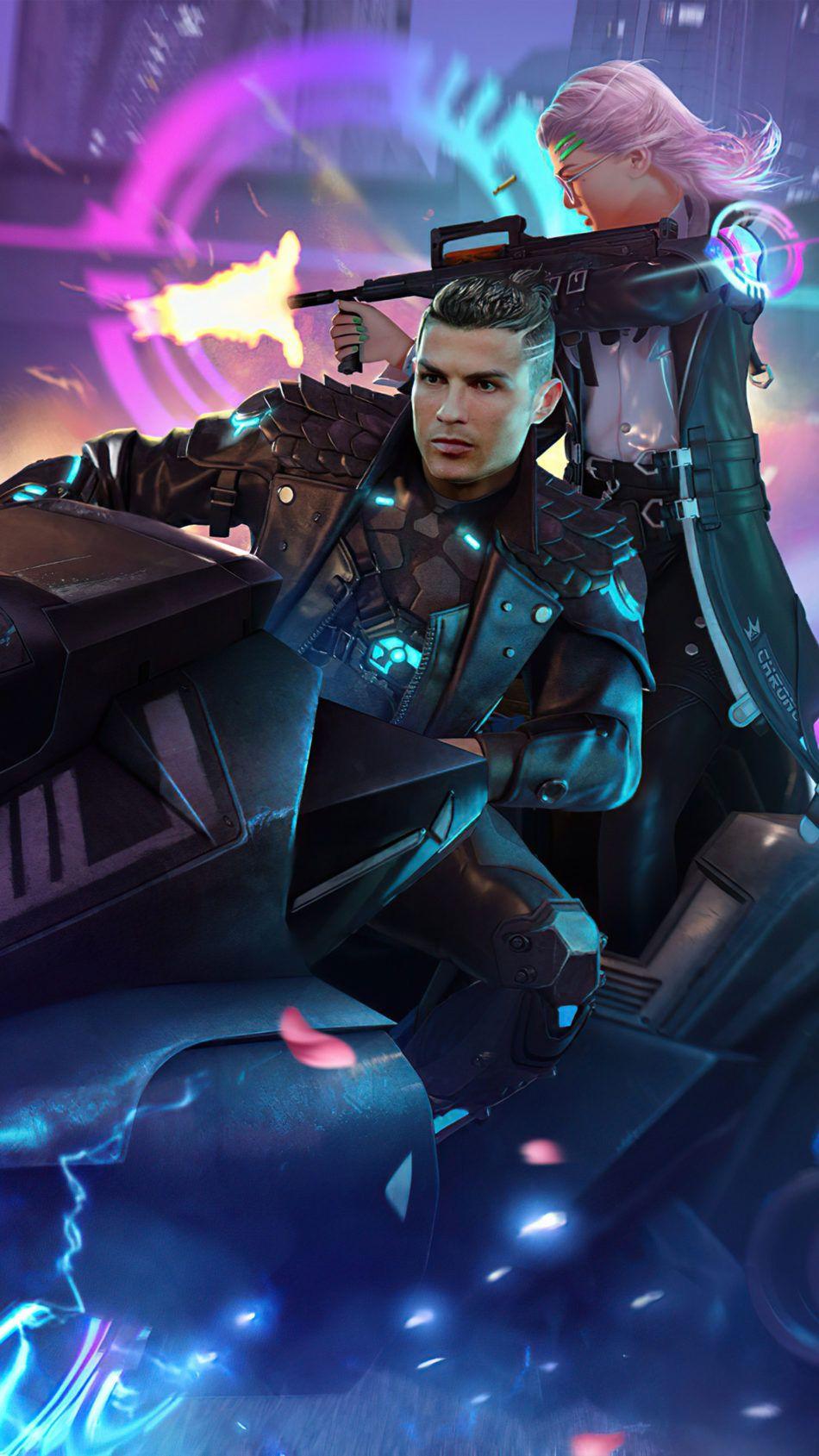 Cristiano Ronaldo Garena Free Fire Skin 4k Ultra Hd Mobile Wallpaper In 2021 Cristiano Ronaldo Ronaldo Photo Poses For Boy