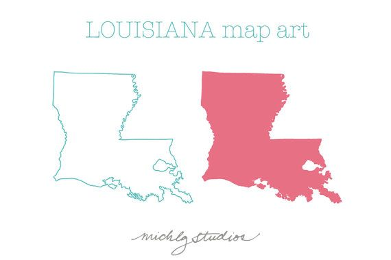 Vector Png Louisiana Map Clip Art Clip Art Louisiana Map Map