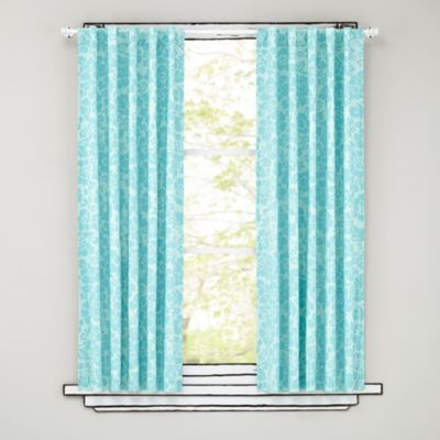 Floral Blackout Curtains (Aqua) | The Land Of Nod Also Available In Pink