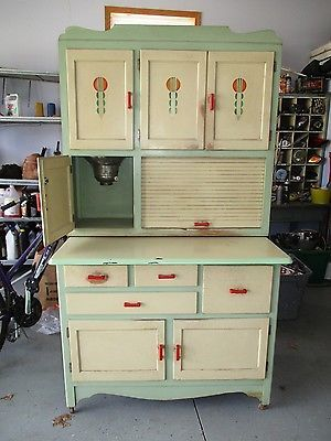 Antique Farmhouse Kitchen Hoosier Cabinet Flour Bin ...