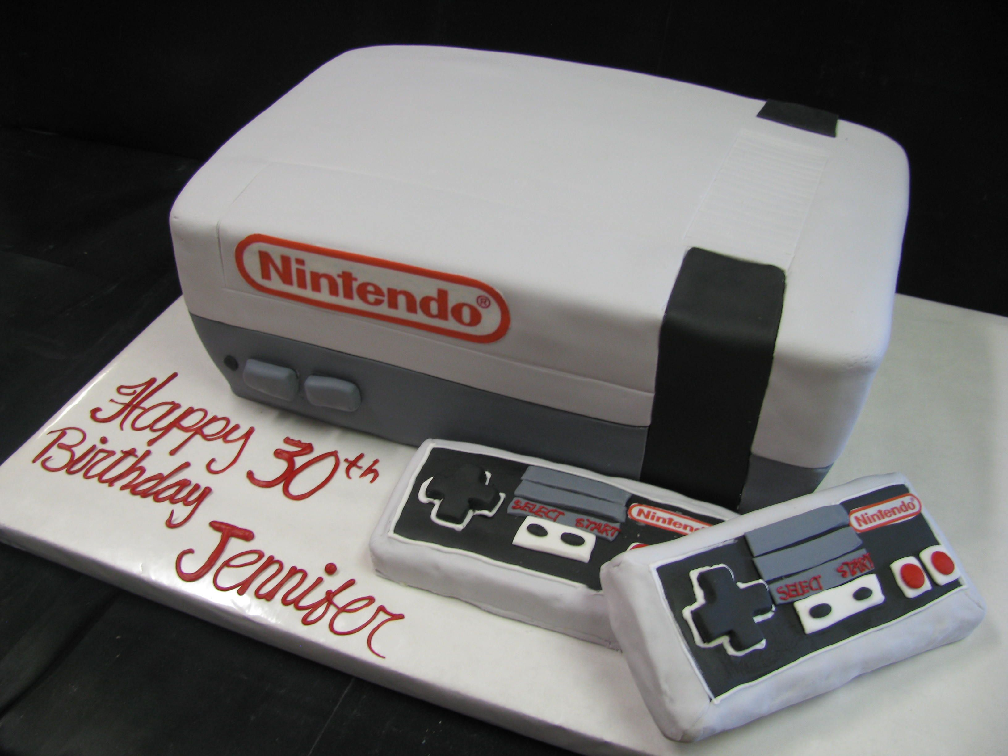 Nintendo Cake Not Only For Kids