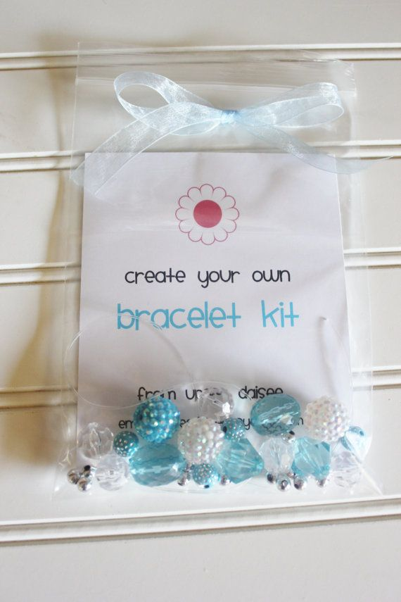 DIY Bracelet Bead Craft Kit Birthday Party Pack Set By UpseeDaisee