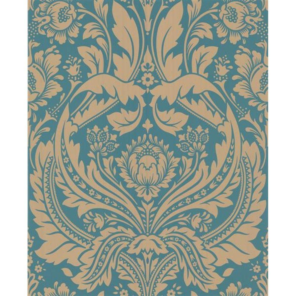 tapete graham & brown spirit desire türkis gold | badezimmer, Badezimmer dekoo