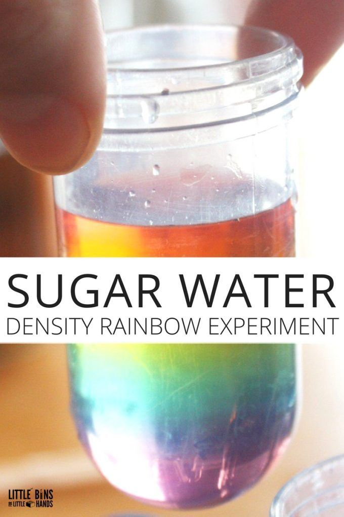 Rainbow In A Jar Water Density Experiment Cool Science