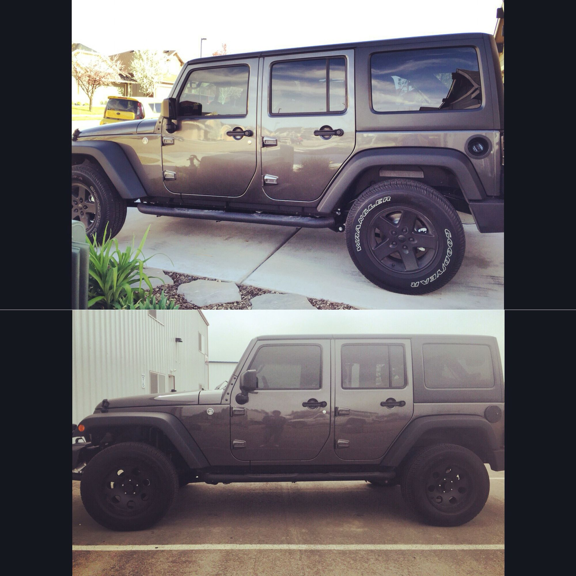 Before And After 2 Inch Leveling Kit 2016 Jeep Wrangler Jeep Sport Jeep