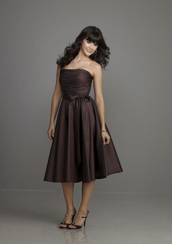 Cute dress!! (cherrymarry.com - long brown bridesmaid dress ...
