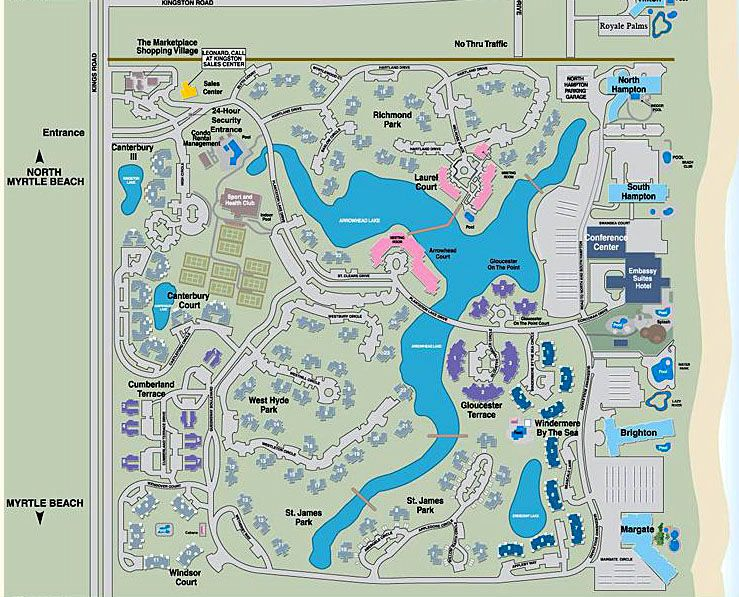 Kingston Plantation Property Layout Myrtle Beach Map Condos For