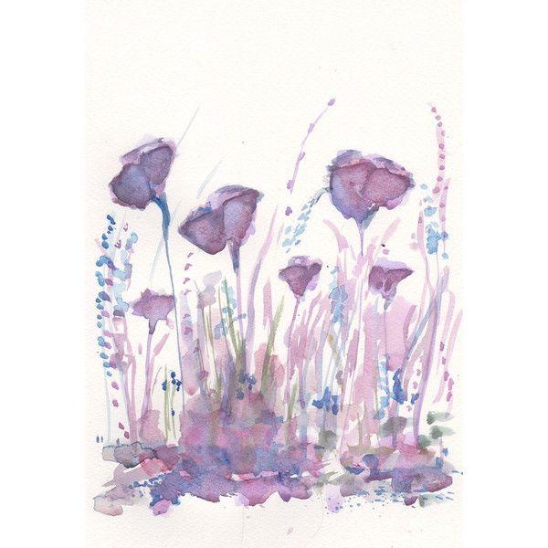 Magic Garden Art Painting Print My Original Watercolor Flower 8x11 20