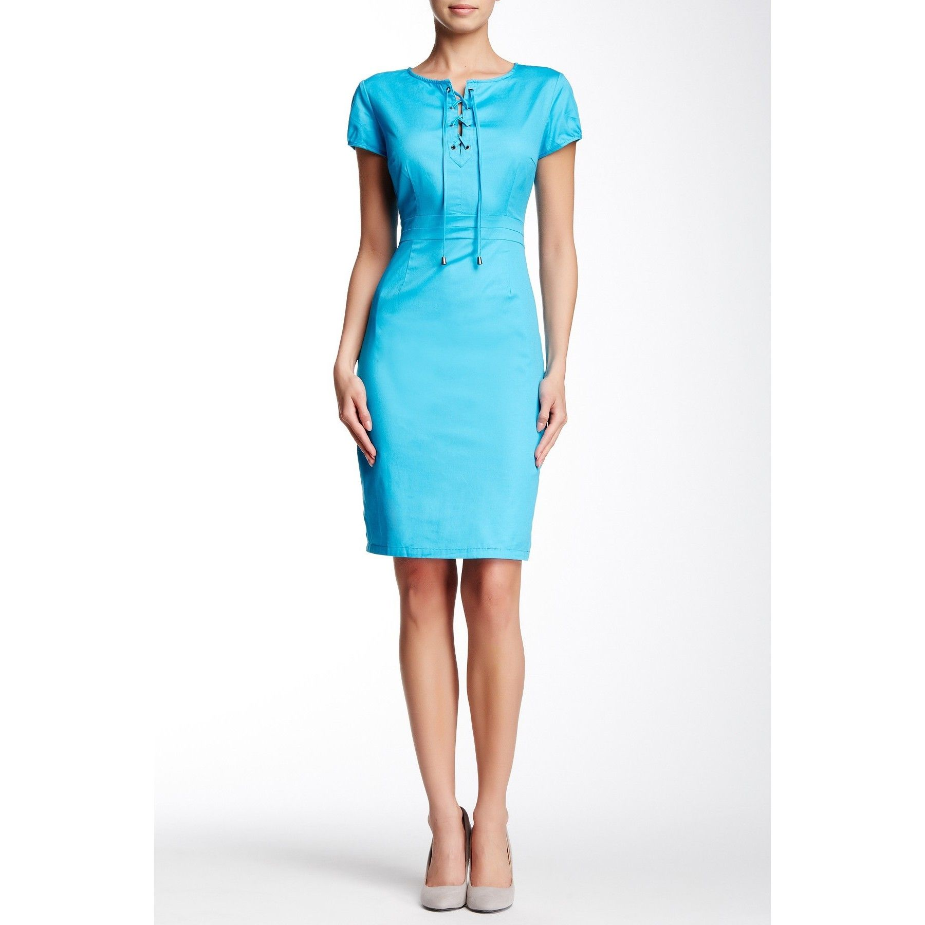 Amelia short sleeve front tie dress products pinterest amelia