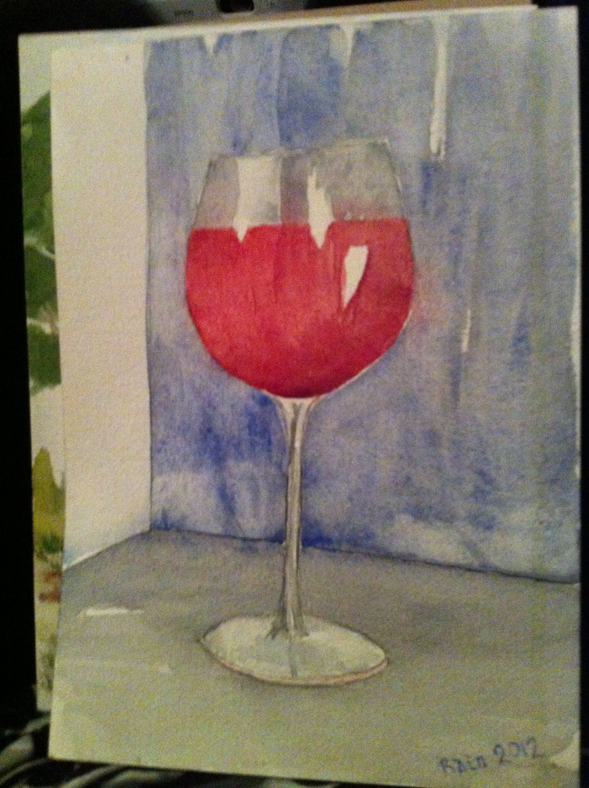 Watercolour Wine Glass Exersise With Images Glass Wine Glass Watercolor
