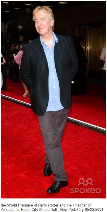 "Sunday, May 23, 2004 -- Alan Rickman at the ""Harry Potter and the Prisoner of Azkaban"" Premiere, Radio City Music Hall, NYC."