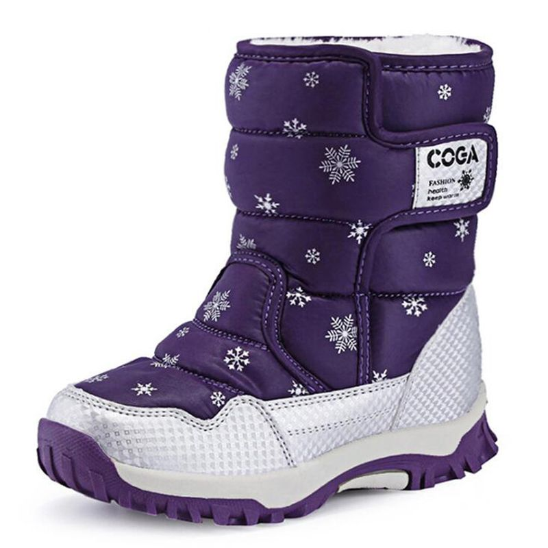 72146c8d9390 Children Boots high quality Boys   Girls Snow Boots Princess Hook   loop  Platform Kids Winter Shoes For 3-12 Years Old