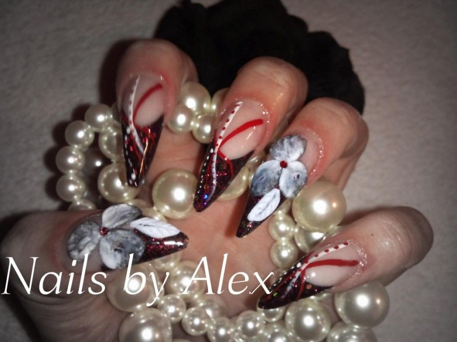 Stiletto Nail Design 16 Extravagant Nails Look | nailart | Pinterest ...