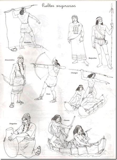 Dibujos Para Colorear Simbolos Patrios De Chile Pueblos Aborigenes Chile Para Ninos Pueblo Indigena