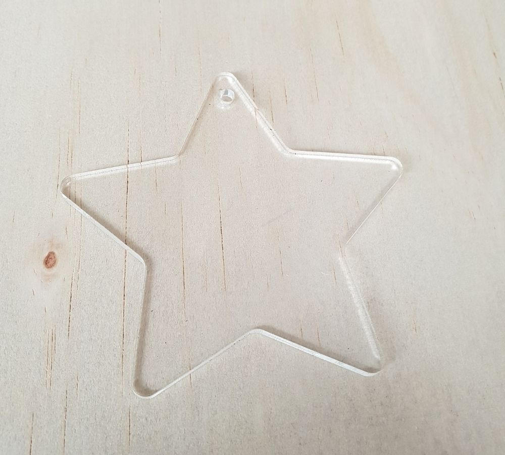 Star Acrylic Blank Vinyl Cutter Clear Acrylic Acrylic