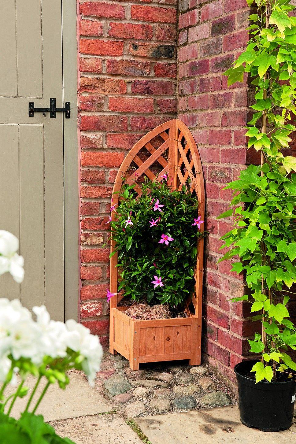 FSC Approved Wooden Corner Planter With Trellis £29.99