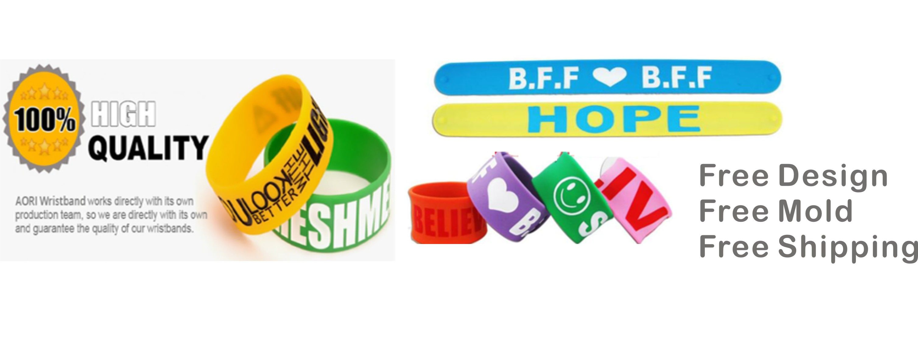 Aori Is Design Your Own Silicone Bracelet Factory In China We Can Help You Free Shipping Order