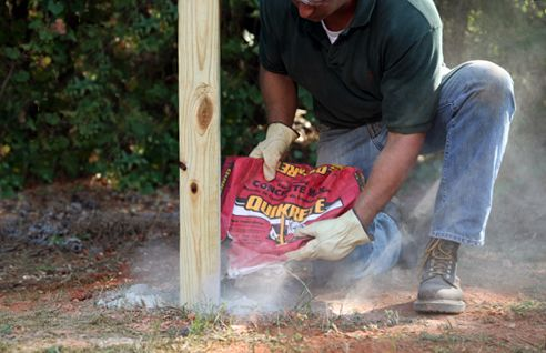 Whether you're building a fence, setting a mailbox or