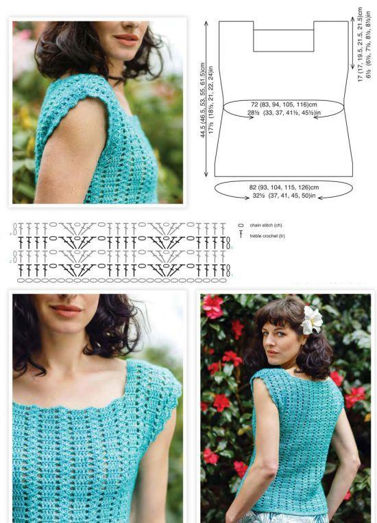 Summer top free crochet pattern | crocheting | Pinterest | Summer ...