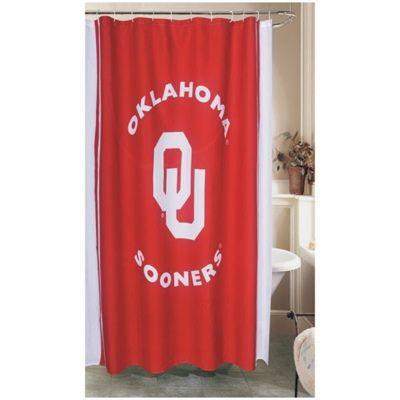 Oklahoma Sooners Shower Curtain Oklahoma Sooners Sooners Oklahoma Sooners Apparel