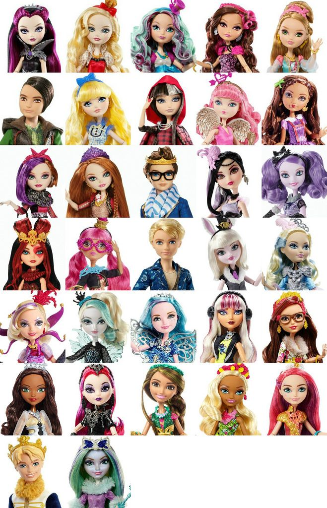 It is a picture of Candid Ever After High Characters