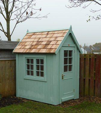 Garden Sheds 6x4 6x4 potting shed. finished in sadolin superdec clover leaf (psc372