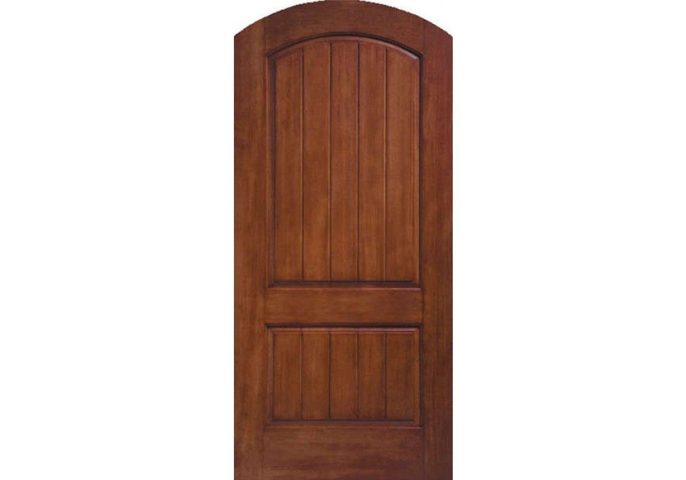 Ccr205a Ruby Therma Tru Rustic Two Panel Round Top Door 1 3 4 Fiberglass Door Glass Doors Interior Eto Doors