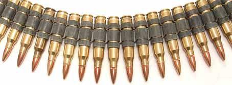 M60 Bullet Belt Full Brass W X Link Belt Unisex Accessories Punk